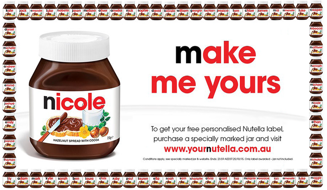 nutella facebook throw their